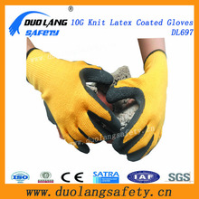 13G cotton knitted latex glove labor protection coated glove