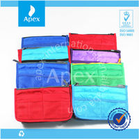 colorful with compartments inner bag& cosmetic travel bag