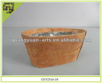 natural birch bark flower planters plastic lining pots