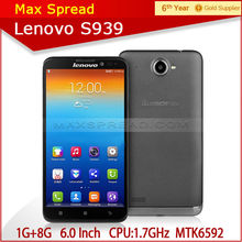6.0 Inch HD IPS Lenovo S939 MTK6582 Octa Core Android 4.2 Smart Phone movil