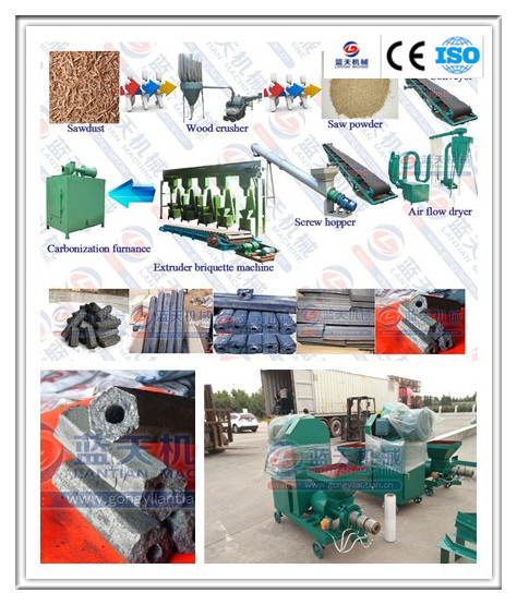 Smokeless and long burn time wood log/wheat waste/sawdust briquette machine price