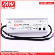 7 Years Warranty 80W 36V 2.3A Meanwell PFC LED Driver HLG-80H-36A Waterproof IP65 LED Power Supply