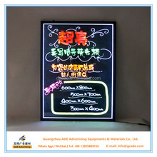 China manufacturer RGB led writing board for beauty salon