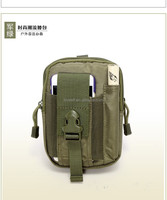 Army green cell phone pouch waist bags Molle Drop Panel Tactical Waist Pouch Bag Waterproof Phone Case Outdoor Sport Waist Bags