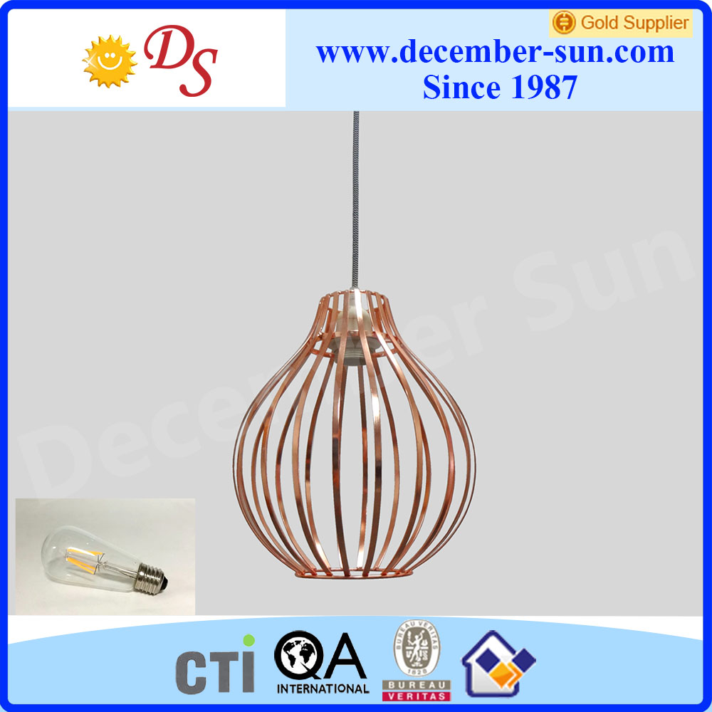 Modern metal wire pendant lamps for home