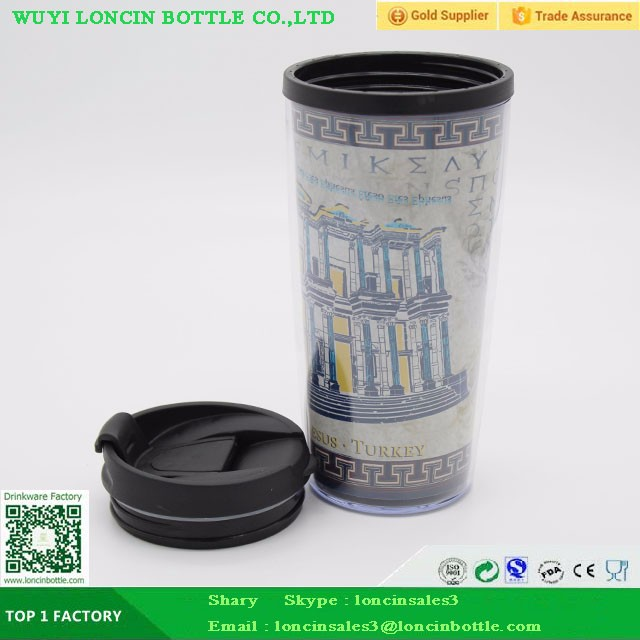 Reusable Coffee Mug With Leak Proof Lid,Double Wall Plastic Coffee Cup Warmer,Insulated Vacuum Coffee Tumbler For Travel Cup
