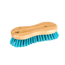 high quality eco-friendly natural bamboo oval cleaning scrub brush for shoe bathroom kitchen home corner floor