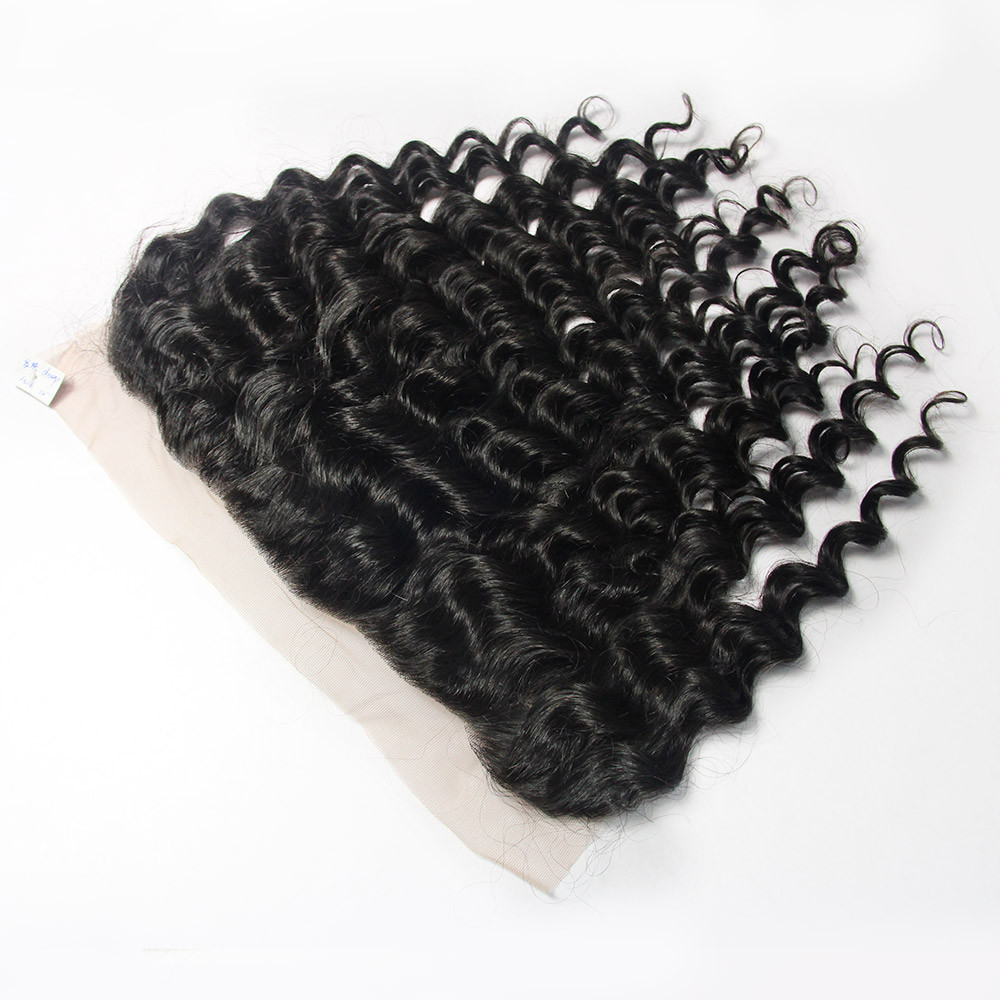Alibabaa express new premium wholesale prices virgin hair deep wave frontal 13x6