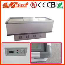 PD-2000 Glass door fast freezing sharp refrigerator supermarket refrigerator deep island freezer