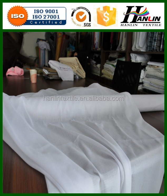 Plain Style and EN,Oeko-Tex Standard 100,SGS Certification White color Spun Polyester voile prepared for scarf print