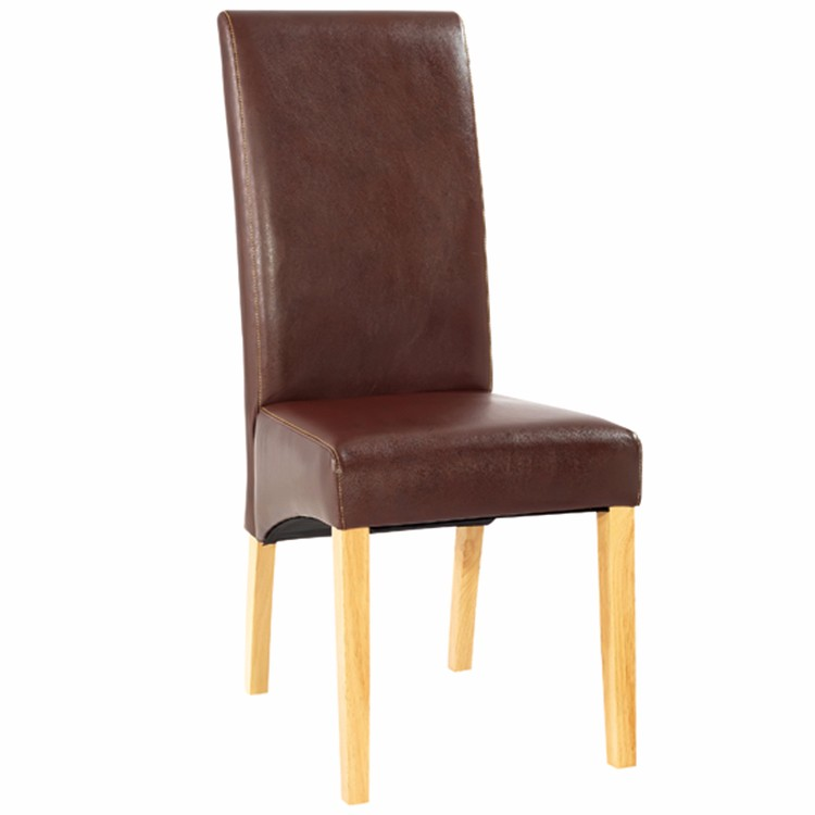 High Back Wooden Padded Modern Dining Chair With Leather Cover Buy Dining C