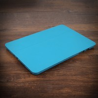 Wholesale universal 10 inch blue PU tablet case back cover for ipad Air