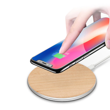 Wood Qi Wireless Cell Phone Charger Charging Pad