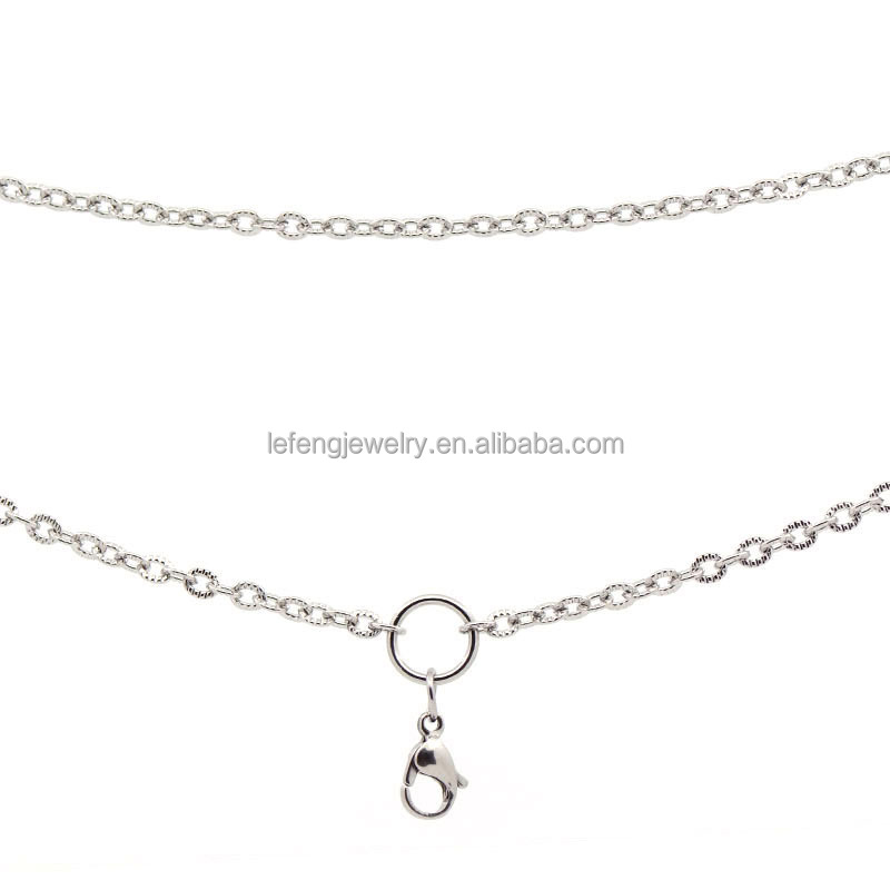 Fancy latest stainless steel necklace chains design,crafts with silver chains