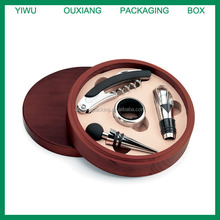 stock round shape hot sale luxury wooden wine accessories box