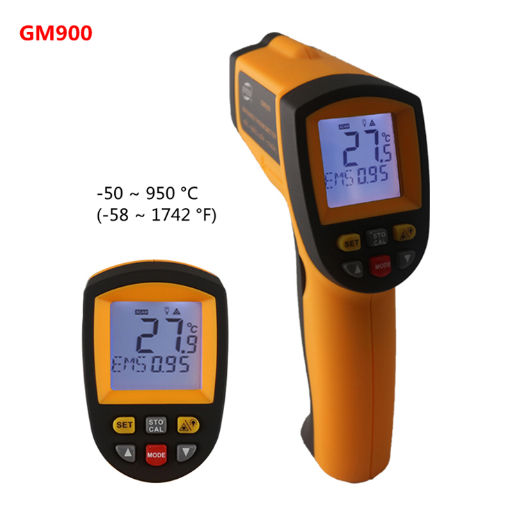 Infrared Thermometer Laser Gun Temperature Tester Digital Meter non-contact LCD GM900