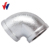 INQO brand FIg no.90 elbow hot dipped galvanized Malleable Iron Pipe Fittings made in China