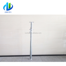 Construction used adjustable galvanized scaffolding prop for formwork supporting