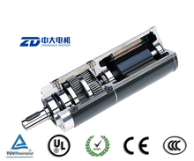 ZD dc brush(brushless) planetary gearbox motor ,40watt, ningbo supplier