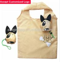 Professional custom-made 190 t polyester environmental protection bag dog foldable shopping bag