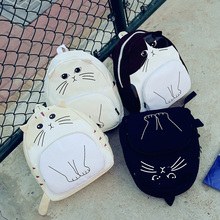 Cute lovely canvas backpack bag school animal backpack for school girls backpack bag