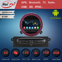 Pure Android 4.4.4 Platform Car DVD With Gps For BMW Mini Cooper Built-in 3G Wifi Bluetooth IGO Map 1024*600