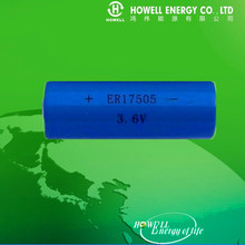 Customized A size ER17505 3.6V 3400mAh lithium ion battery for Military power,
