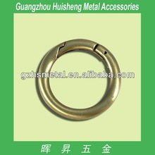 High Quality Handbag Accessories Metal O Ring For Bags Zinc Alloy O Ring Fashion Metal Spring Ring