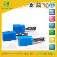 high quality tungsten steel solid carbide square end mill in milling cutter with coating