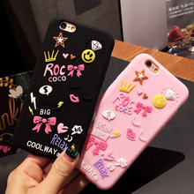 Stars love heart diamonds smiles bows silicone mobile phone case for iphone 6 7
