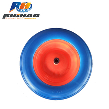 Blue 3.50-8 plastic Wheelbarrow PU Wheel