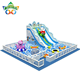 Christmas theme Indoor snowy playground ball pool for kids play area zone inflatable slide bouncer with customized printing