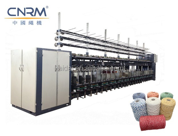 Cotton mop yarn twister machine/ open end mop rope making machinery for sale