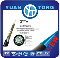 Outdoor 12 core Pipe fiber cable GYTA single mode cable