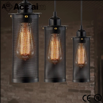 hollow out iron material hanging lamp for home office
