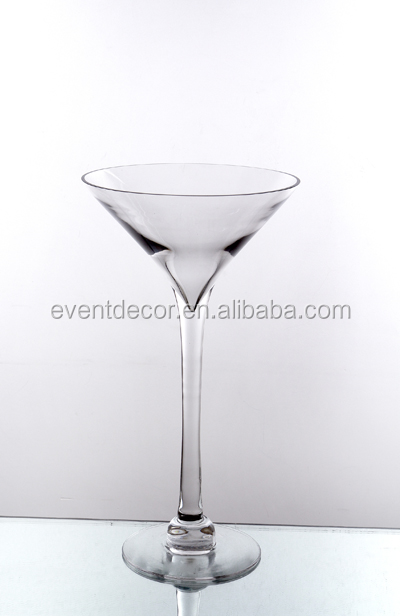 Martini cheap glass flower vase centerpiece clear glass for Decoration vase martini