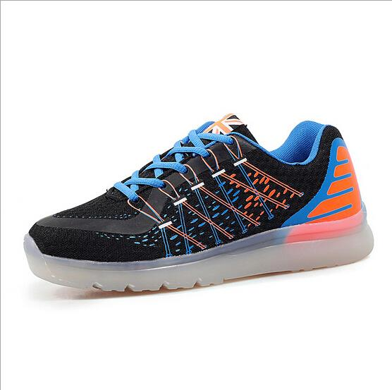 bright color running shoes led shoes light