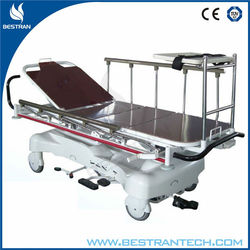 BT-TR005 China factory sale hydraulic resuscitation stretcher trolley, strecther trolley, stretcher bed