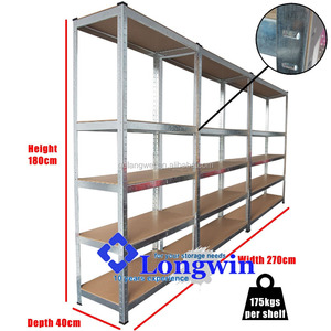 Low price 5 level boltless steel rack shelves,metal galvanized storage shelving
