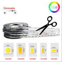 12v 3014 120leds cob dimmable addressable white color led strip