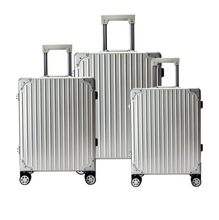 2016 hard 20 inch aluminum trolley luggage suitcase 4 wheels trolley case/luggage bags