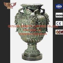 China bronze factory Garden ornaments bronze flowerpot sculptrue