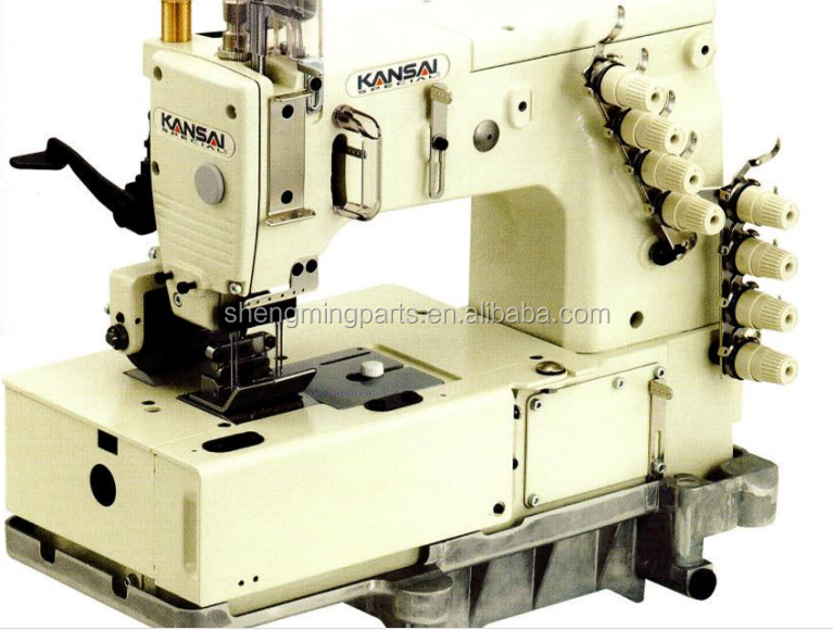 Double Chain Stitch Kansai Special DLR-1508SPF 4 needle Sewing Machine Used
