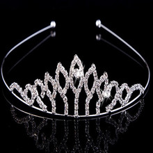 yiwu China cheap factory price crystal simple style rhinestone wedding bridal tiara