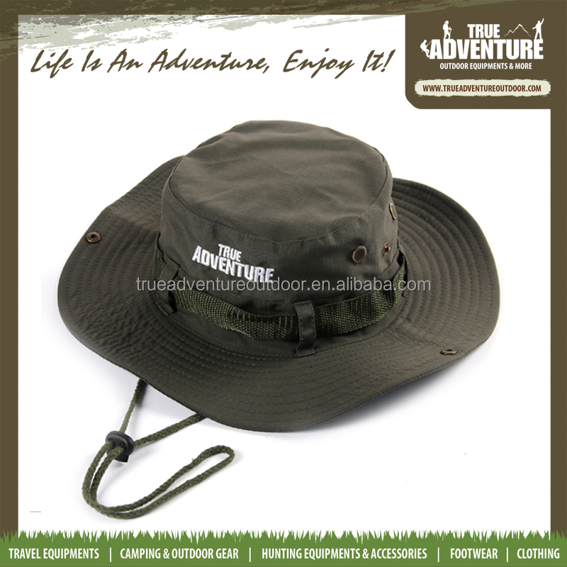 True Adventure 2016 TA3-031 double layer polyester fabric four color red green kakhi black military boonie hat