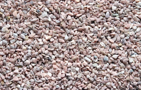 color gravel/red crushed stone