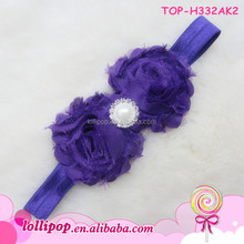korean hair bows,fashinable nylon hair bands beautiful flower with posh pearl for baby girls,accessories for kids and infants