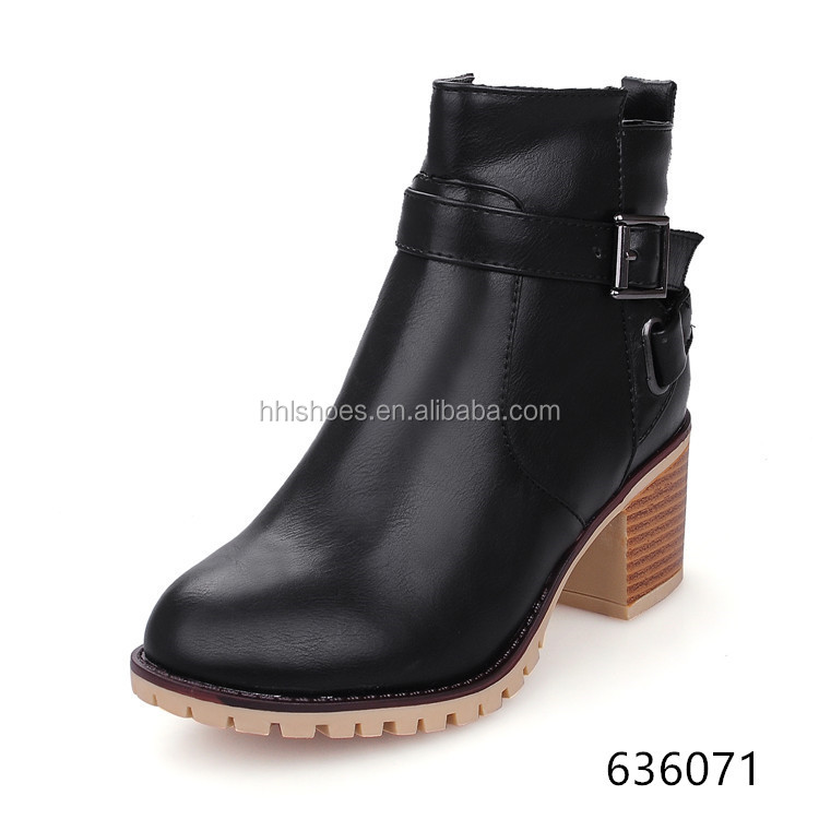NEW STYLE CHUNKY HEEL DR MARTENS BOOTS FOR WOMEN