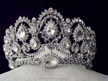 European Tiaras Silver Bridal Jewelry Quinceanera Rhinestone Crystal Crowns Pageant Wedding Hair Accessories For Brides MT2582