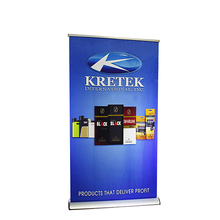 Retractable Favoshow Display Aluminium Flex Poster Backdrop Roll Up Banner Stands